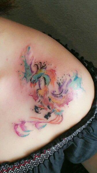 Phoenix Tattoo water color