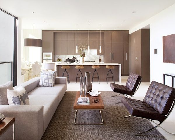 Beautiful use of brown tones in this #modern living room.