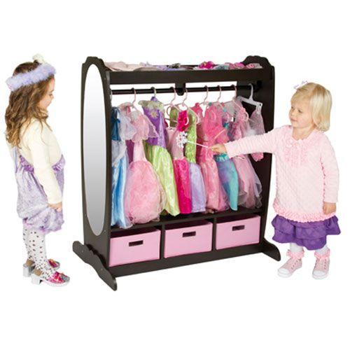 Dress Up Storage Espresso Guidecraft Activity & Play Sets Kids Furniture Childrens