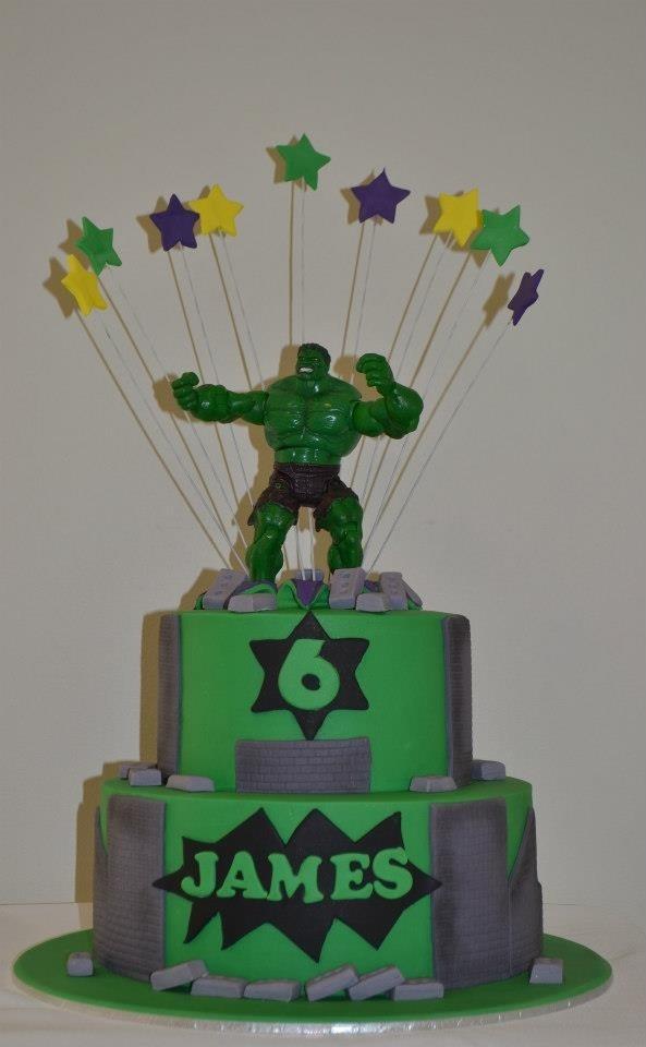 Hulk cake he likes this one 2
