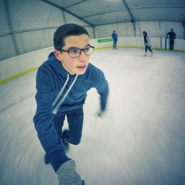 GoPro ice skate
