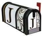 """Monogram J"""" Magnetic Mailbox Cover"""" by Carson. $9.99. Mailbox Cover and Front face may be trimmed for a custom fit.. Made of durable fade resistant vinyl and will not crack or tear.. Includes a sheet of vinyl numbers & zip ties.. Fits standard sized mailboxes, 6.5""""W x 19""""L. Each mailbox cover and front face has attached magnetic strips.. Give your mailbox a new look for every season and reason! Magnetic mailbox covers are offered in a wide variety of unique designs that ar..."""