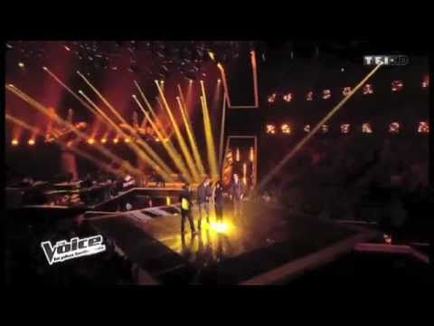 """Opening of the new stage for talent season 3, entitled """"the ultimate test"""" (the Voice France 2014) (they sang """"Vieille Canaille""""). I have no clue what the heck their saying, but omg it's funny. I was dying"""