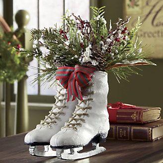 CHRISTMAS HOLIDAY SKATES CENTERPIECE