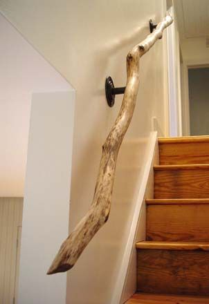 branch stair railing