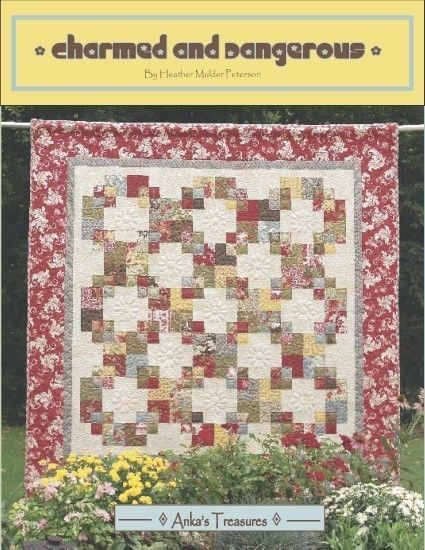 "NEW Charmed and Dangerous  Projects for 5"" Charm Squares patchwork quilt book"