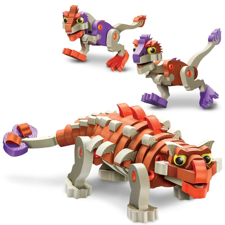 Bloco Construction Toys - Ankylosaurus. Simply connector system for young kids. Cute, fun toys. http://www.greenanttoys.com.au/shop-online/construction-toys/bloco-construction-toys/