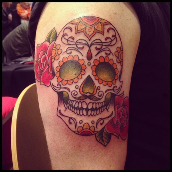 15 best top 15 tatouage crane mexicain images on pinterest skull tattoos sugar skull tattoos. Black Bedroom Furniture Sets. Home Design Ideas