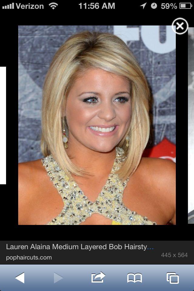 Lauren Alaina medium length haircut