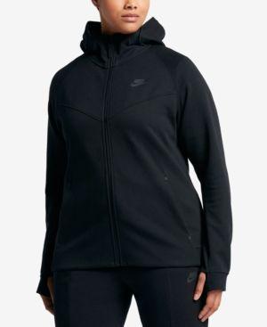 Nike Plus Size Sportswear Tech Fleece Hoodie - Black 1X