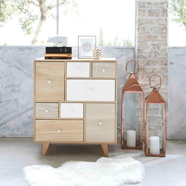 Twin-tone paulownia 8-drawer ... - Spring