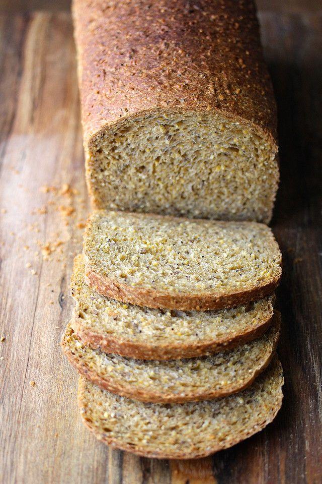 Anadama Bread with Sesame, Flax, and Poppy Seeds | Sweet Corny Bread