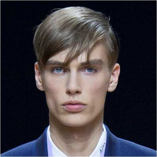 CoolMedium Length Dark Brown Slight Curly Wave side swept fringe bang hairstyle Hair Style Men Wig #MensLongHairstyles Click for further information