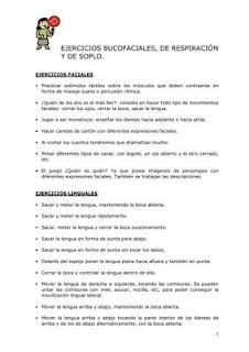 Ejercicios y praxias bucofonatorias.