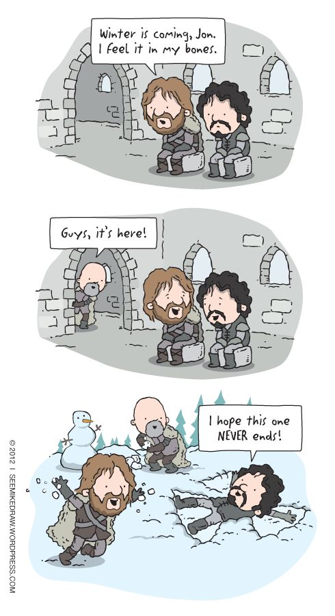 If only things were this happy anywhere in Westeros lol
