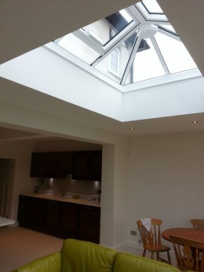 Roof lantern installed in extension