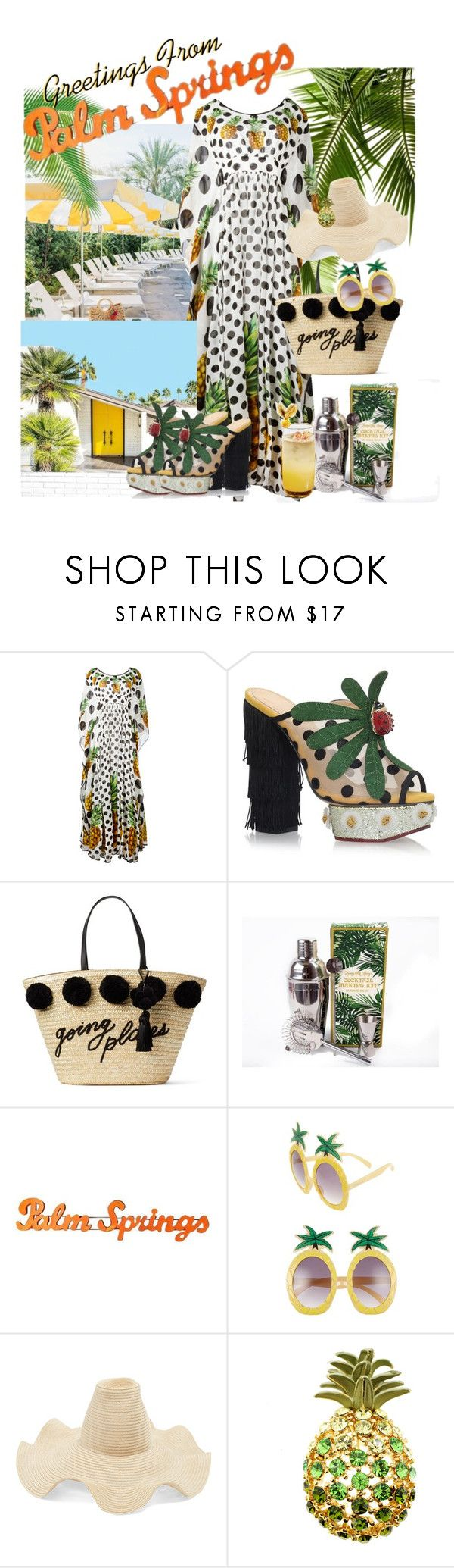 """""""Palm Springs #1"""" by mermaiden ❤ liked on Polyvore featuring Dolce&Gabbana, Charlotte Olympia, Kate Spade, Temerity Jones, Circus by Sam Edelman and Rosie Assoulin"""