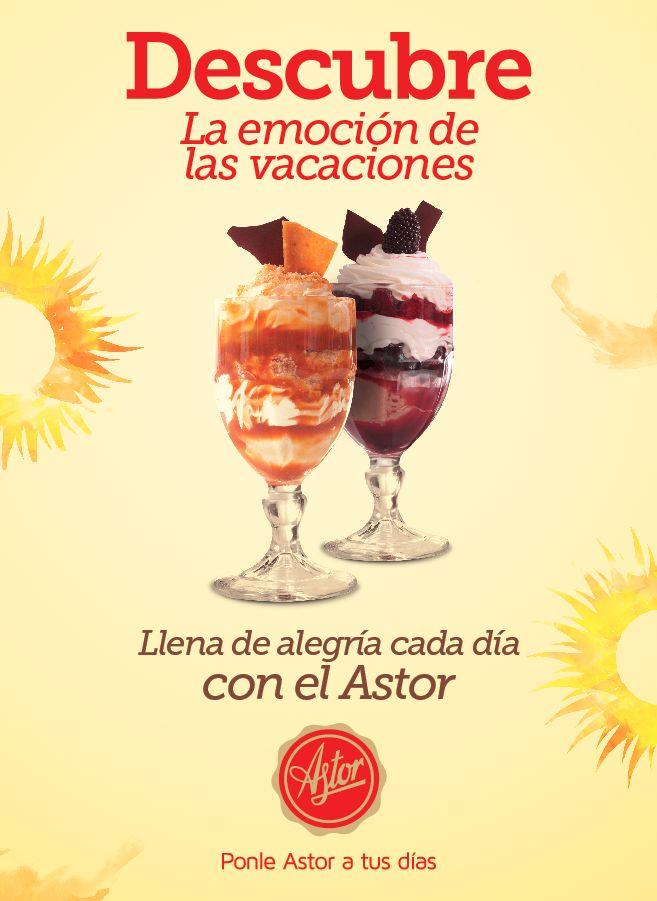 Descubre la emoción de las vacaciones...Llena de alegría cada día con la #reposteriaastor  www.elastor.com.co