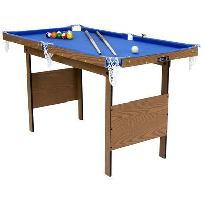 Charles Bentley Junior 4ft American Pool Table – Blue - BestBuys4You