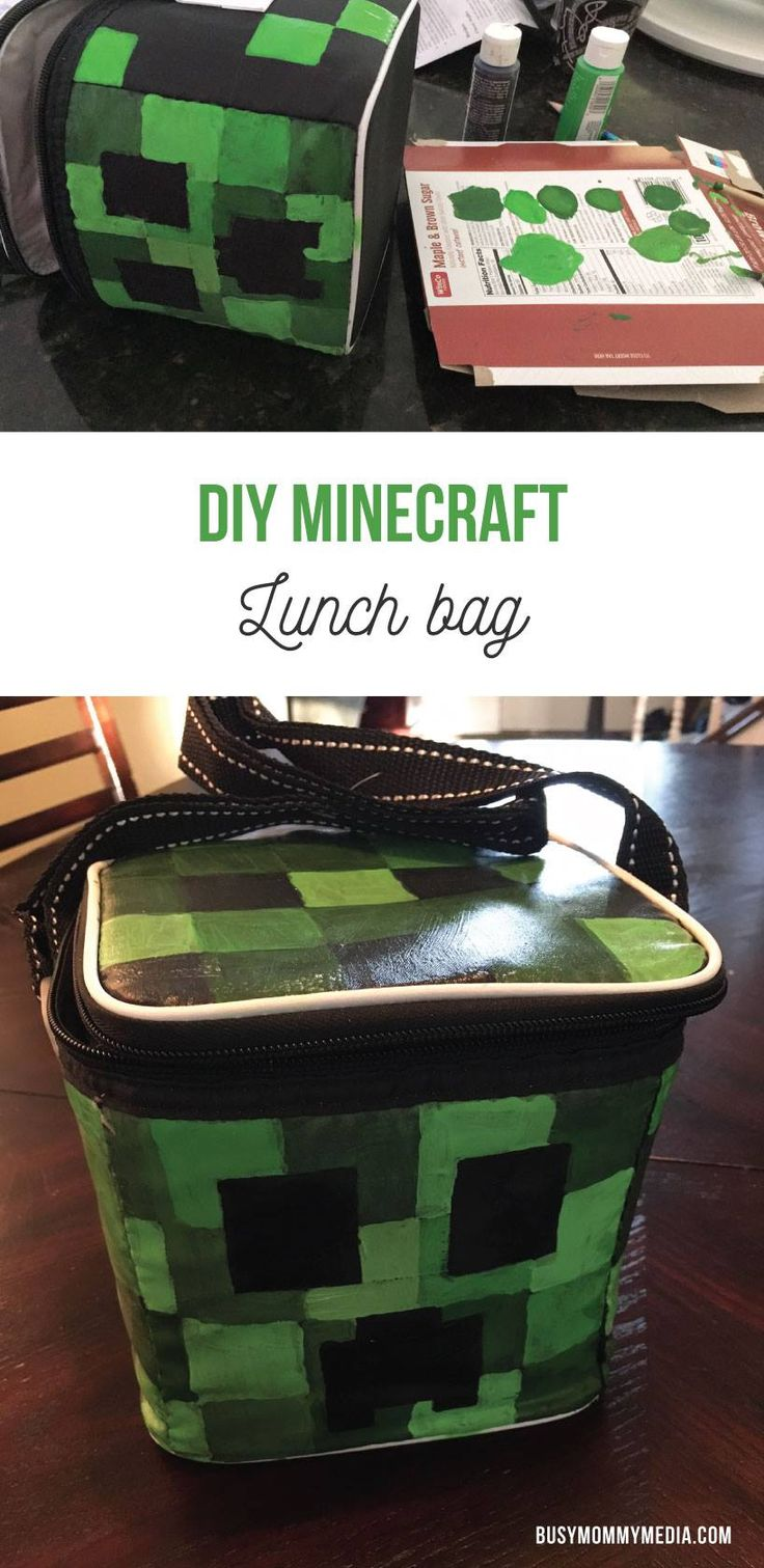 DIY Minecraft Lunch Bag | Are you looking for a Minecraft lunch bag but having trouble finding one? You can make this DIY Minecraft lunch bag for under $10!