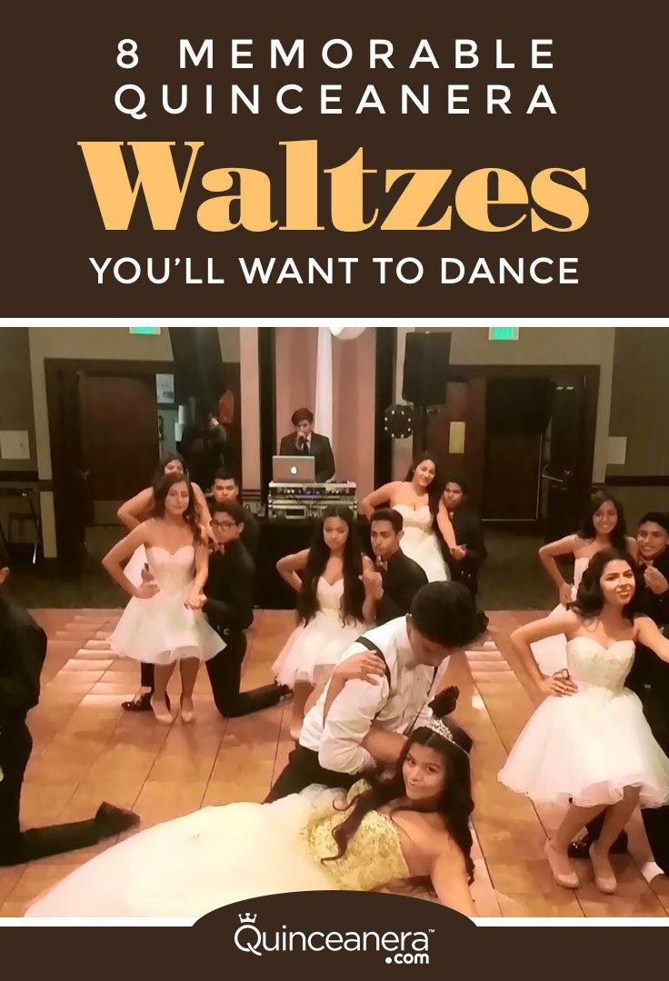 Follow the Quinceanera tradition and check out the next videos and grab a few steps to learn and/or your favorite song to dance. - See more at: http://www.quinceanera.com/traditions/8-memorable-quinceanera-waltz-youll-want-to-dance/#sthash.ymBvvVBS.dpuf