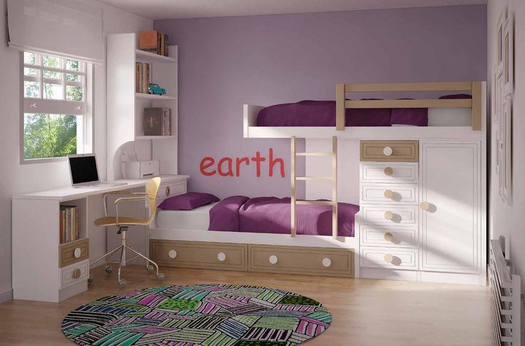 Con un diseño nórdico y vanguardista, este dormitorio con cama tren juvenil barato y moderno hará de su espacio un sitio totalmente único y acogedor. Sus materiales hacen de este, una pieza duradera y resistente. Consúltanos en nuestra tienda de muebles modernos y baratos en Madrid.