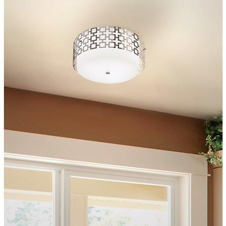 Jonathan Adler Parker 15 1/4  Wide Nickel Ceiling Light - Style # H0679 & 42 best lighting images on Pinterest   Chandeliers Lighting ideas ... azcodes.com