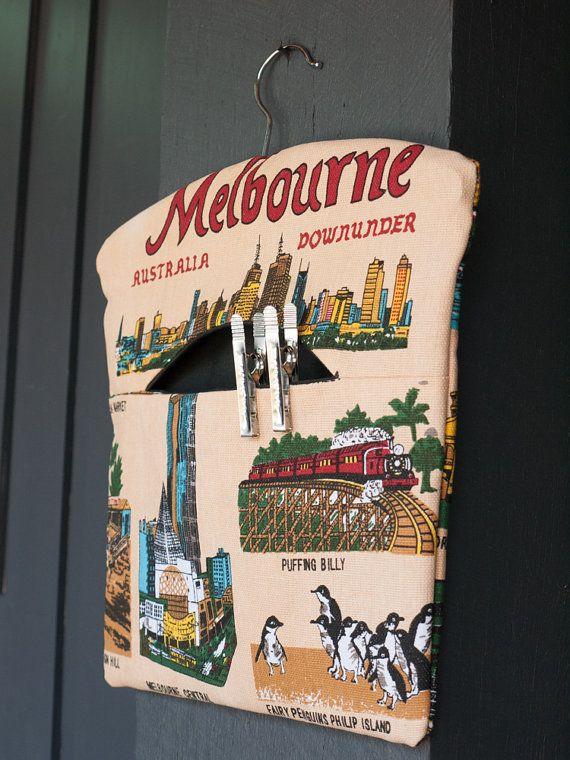 Melbourne Australia handmade fabric peg by freshdarling on Etsy