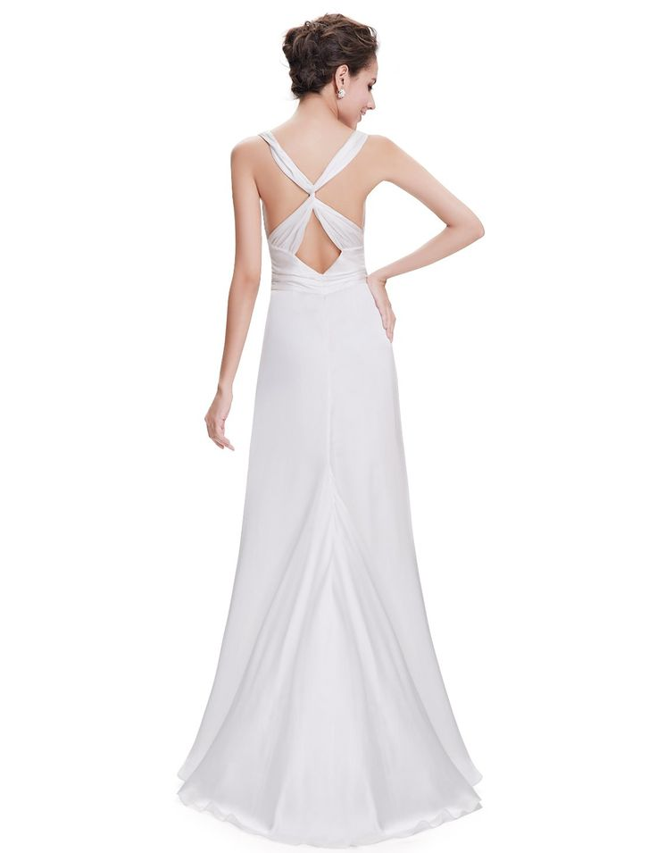 Ever Pretty Ruffles Cross Back Bridesmaid Dress Amazoncouk Clothing