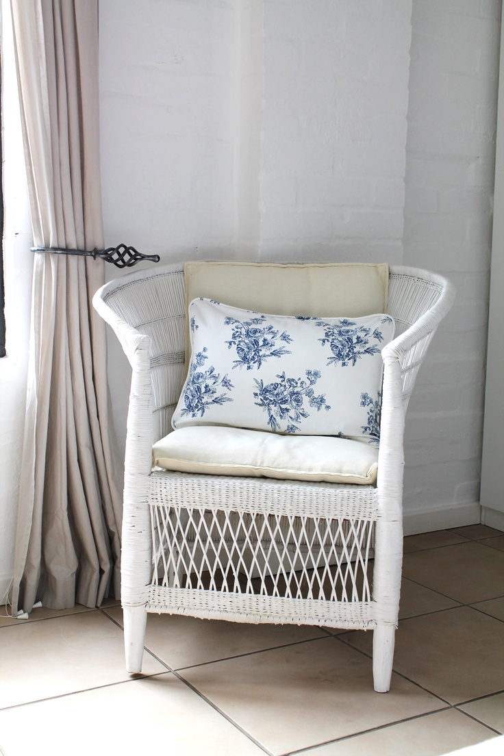 stylish white wicker chairs by  Karoline B. Interior Design  www.facebook.com/karolinebdesign