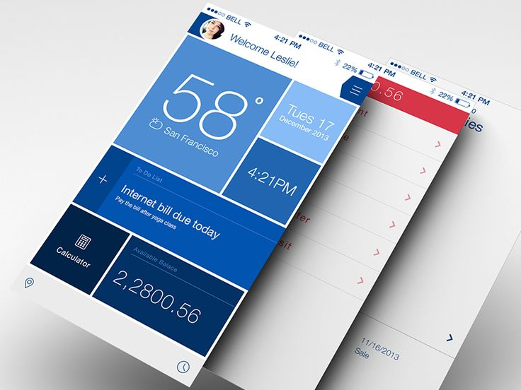 bank app with cool widget tool added on... by Sony
