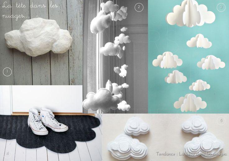 UNIVERS CREATIFS: Les DIY autour du thème des nuages.