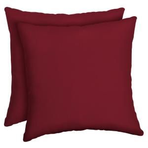 Arden Selections Caliente Canvas Texture Square Outdoor Throw Pillow