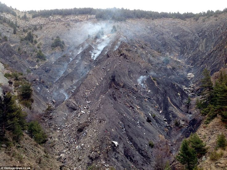 This photograph of the remote area of the French Alps where the plane crashed reveals the ...
