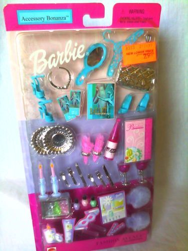 2002 Fashion Avenue Accessory Bonanza Barbie Doll Accessories New | eBay