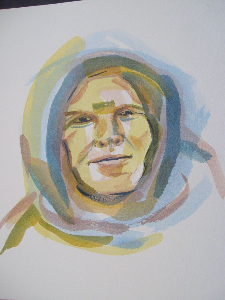 trying watercolours in portraits