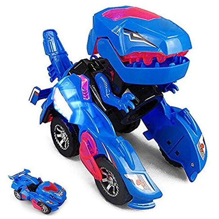 Volwco Transforming Dinosaur Led Car Transformers Spielzeug Mit Licht Und Soundfunktion Dinos…