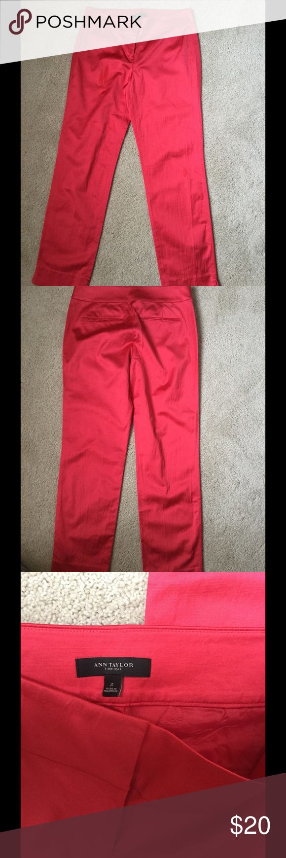 "Like new Ann Taylor pants ,like silk material . Worn one time Ann Taylor pants . 27"" inseam 15,5"" waist ❌Price firm . Ann Taylor Pants Straight Leg"