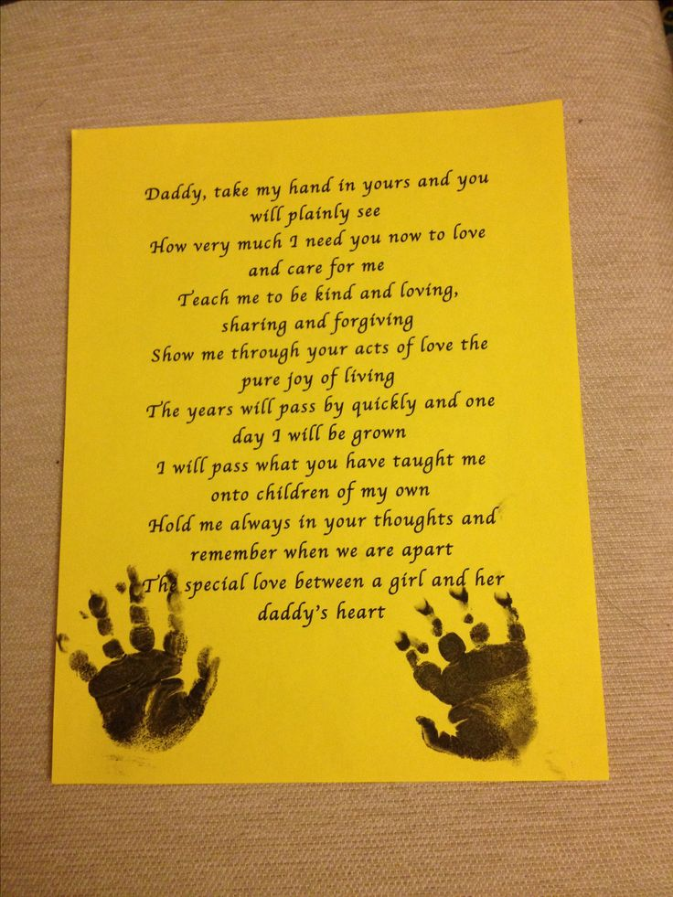 Daddy daughter poem | DIY Crafts | Daddy daughter ... Fathers Day Poems From Daughter