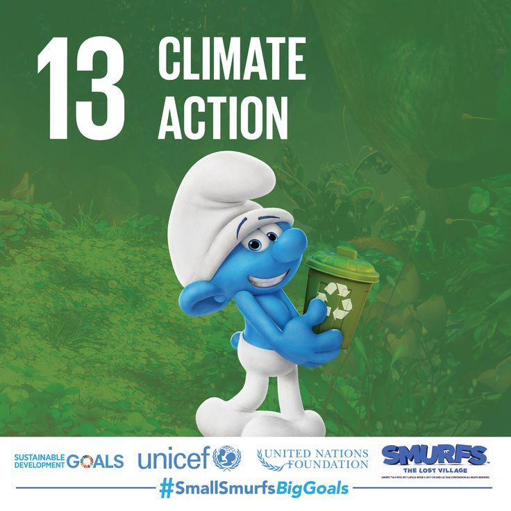 #TeamSmurfs needs your help to combat climate change. Visit SmallSmurfsBigGoals.com and get tips on how you can take action at home, school and the office.   #SmallSmurfsBigGoals