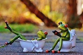 Vaňa, Loo, Žaby, Funny, Kúpeľňa