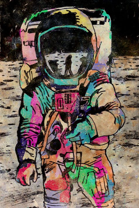 astronauta a color