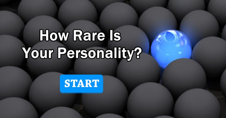 Ever wondered how your personality compares to others? The result might surprise you. Click to take this test.I got:Your Personality is the Rarest Your personality type is goofy, imaginative, relaxed, and brilliant. Only about 4% of all people have your personality, including 2% of all women and 5% of all men. You are Intuitive, Thinking, and Perceiving.
