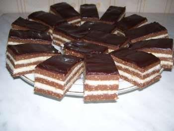 Különleges diós sütemény meglepetés krémecskékkel!