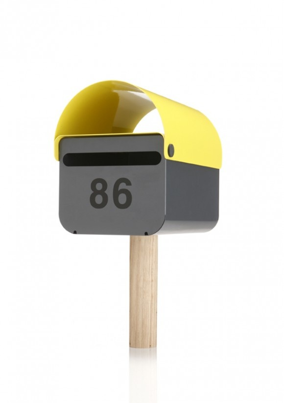 Mailbox by TomTom in yellow // design by designbythem, Australian design duo <3 awesome! #productdesign #industrialdesign