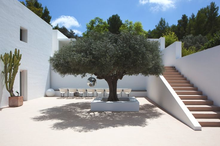 Villa San Joan in Ibiza, Spain by Jade Jagger