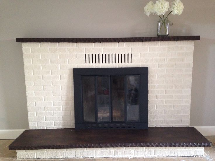 Black Modern Fireplace