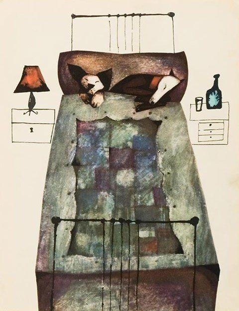 Illus. by Bohdan Wróblewski for Wesołe odwiedziny, 1964