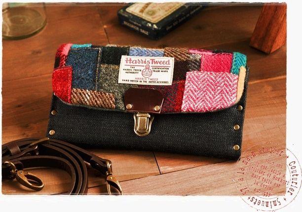 ハリスツイードのお財布。画像1