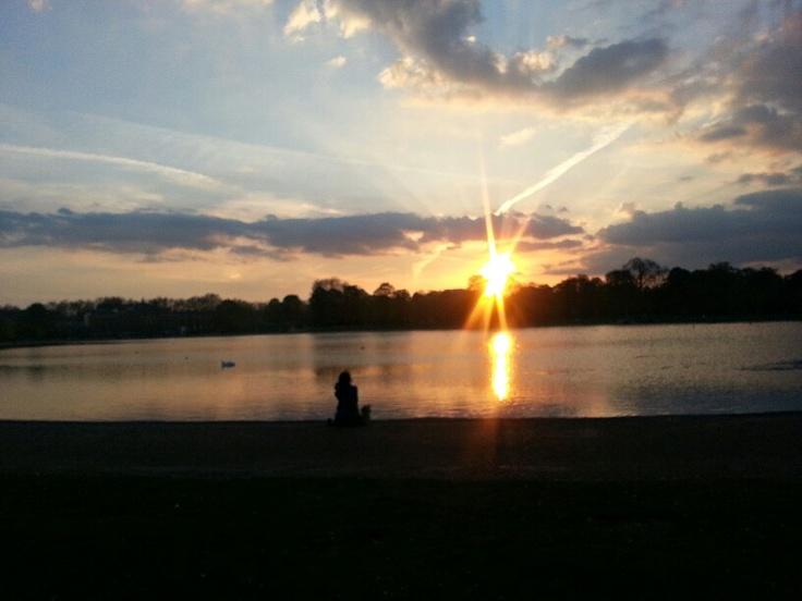 May Sunset in Kensington Park, London